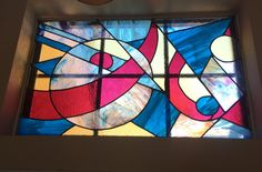 pierce the sky, leaded stained glass commissioned window by Chi Isiogu