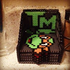 TMNT coaster set perler beads by beads_of_art