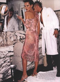 Fendi Style: Kate Moss by Mario Testino for Vogue UK circa 2000. styled by Grace Coddington.