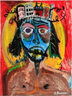 """The artwork of Gordon Skinner. His work is amazing...this painting is called """"Jesus Piece - Self Portrait at 27"""". I've had the pleasure of doing a short documentary on him and his artwork. It's been fascinating."""