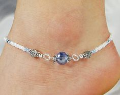 Anklet Ankle Bracelet Double Strand Anklet by ABeadApartJewelry
