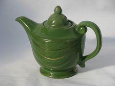 1930s jade green genie lamp teapot