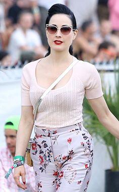 Dita Von Teese from 2014 Coachella Star Sightings   E! Online