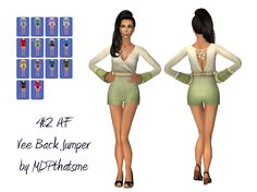 THIS IS FOR SIMS 2. I worked on this all day. And it was the worst experience ever. Nothing was going right with this mesh. Bone assignments didn't stick. Morphs exploded (so there isn't any) And...