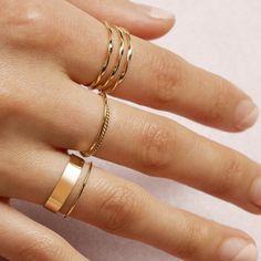 24k Gold Ring, Dainty Gold Rings, White Gold Rings, 18k Gold, Real Gold Jewelry, Solid Gold Jewelry, Cute Jewelry, Hand Jewelry, Minimal Jewelry