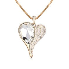 LOVER New Arrival Sparking Heart Graceful Imitation Crystal Long Sweater Chain Pendant Necklace imitation Gemstones may have been treated to improve their appearance or durability and may require special care. The natural properties and composition of mined gemstones define the unique beauty of each piece. The image may show slight differences to the actual stone in color and texture. Imported Intricate high polish creates glamorous reflections and adds a luxurious look to this earrings