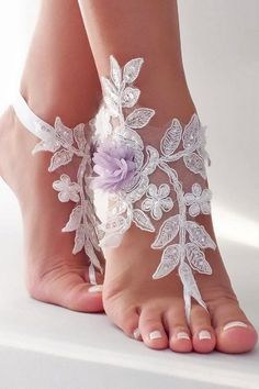 Barefoot Sandals for Your Beach Wedding Shoes