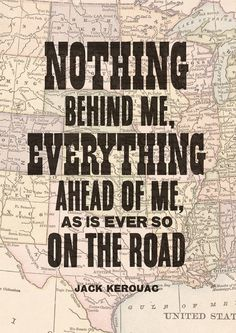 Jack Kerouac quote print On The Road print by TheIndoorType