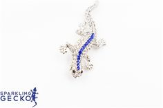 Blue Sparkling Gecko Pin Blue Sparkling Gecko Pin,Jewelry & Watches, All Fashion Jewelry,Value,Sale