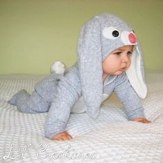 Bunny Rabbit Baby Onesie Costume with Hat - Lil' Creatures via Etsy.