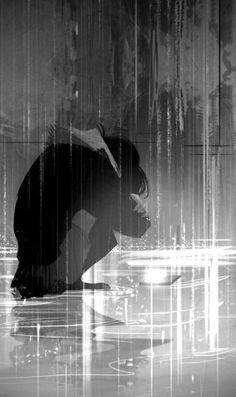 Anime Boy Crying, Sad Anime Girl, Anime Art Girl, Anime Scenery Wallpaper, Sad Wallpaper, Arte Obscura, Sad Pictures, Sad Art, Animes Wallpapers