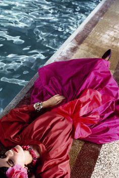 Tina Chow in Yves Saint Laurent by David Seidner ~ 1980s ~ Violetta Sanchez
