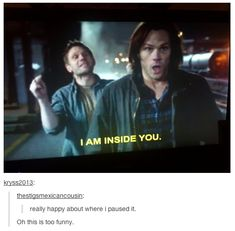 supernatural spn winchesters favouritesupernaturaltumblrposts another one woo thought it was about time plus all my assessments are over so I actually had time