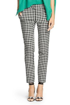 A cropped pant is a must for spring and the DVF Genesis is classic and cool. With front slit pockets. Zip and clasp closure. Structured cotton with great stretch. Fit is true to size.