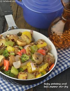 Baby Potatoes and Bell Pepper Stir-fry