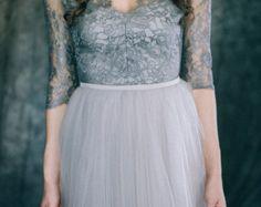 Wedding dress AirSpace Modern grey colored bridal by LiluBridal
