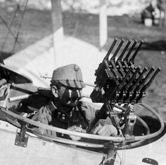 """""""Austro-Hungarian aircraft gunner with an arranged anti-aircraft gun made out from Mausers C-96"""""""