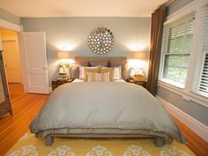 Serene Retreat - Our Favorite Rooms by Sabrina Soto on HGTV--i like the look of the comforter