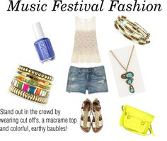 """Music Festival Fashion"" by inpinkstyle on Polyvore"