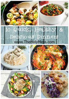 Yummy dinners that are healthy, taste great, and your kids will actually eat. 10 Quick and Healthy Dinner Ideas|The Holy Mess