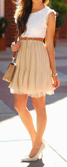 Adorable pleated lace tulle dress fashion trend