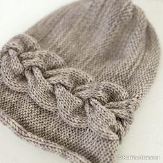 Ravelry: Sideways Braid Beanie pattern by Katrine Hammer