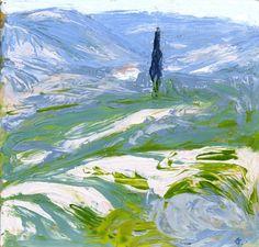Toscanalainen maisema on vuodelta Sen omistaa Mikkelin taidemuseo. Post Impressionism, Seascape Paintings, Oil Paintings, Landscape Art, Painting & Drawing, Abstract Art, Illustration Art, Artsy, Fine Art
