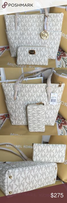 Michael Kors Bag & Wallet 100% Authentic Michael Kors Tote Bag and Wallet, both brand new with tag! Michael Kors Bags Totes