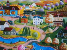 PUZZLE.....JIGSAW.....KLEIN......Country Station ....500 Pc...Sealed #MEGABrands