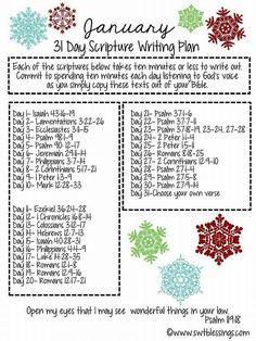 Scripture writing plan-devotion time