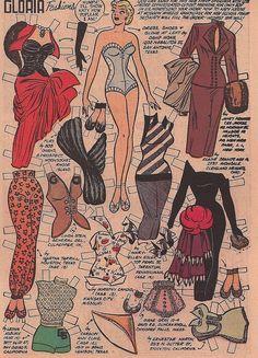 GLORIA Paper Doll | Katy Keene January 1954 Bill Woggen