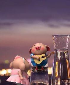 Pig 🍭 Pig Wallpaper, Snoopy Wallpaper, Funny Phone Wallpaper, Alphabet Wallpaper, This Little Piggy, Little Pigs, Cute Piglets, Wonder Art, Cute Couple Cartoon