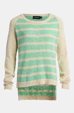 Love this summer mint striped sweater!