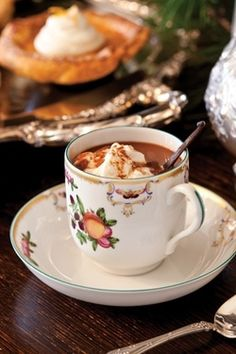 hot chocolate on a wintry day...