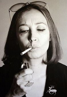 Oriana Fallaci, big, big, big, big woman!  #orianafallaci #oriana