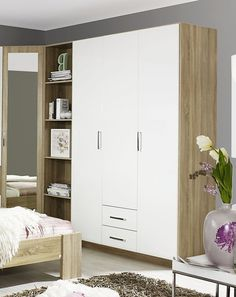 Buy Rauch Samos Wardrobe online by Rauch from CFS UK at unbeatable price. Rauch Wardrobes, Free Standing Wardrobe, Large Storage Cabinets, Samos, Hanging Rail, Bedroom Wardrobe, Bedroom Furniture, The Unit, Shelves