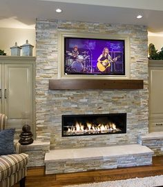 I would like to use this stacked stone on our fireplace