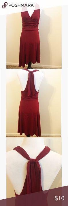 Burgundy Stretch Dress Small. Stretch, soft dress Forever 21. Adjustable straps. Forever 21 Dresses Midi