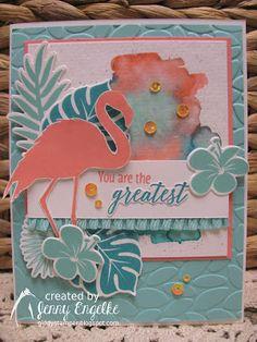 Giddy Stamper: Tropical Chic Flamingo ~ HSS294, JUGS449, JAI417