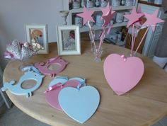 Hearts and stars - pretty party favours #PaintPotHome #Heart #Stars