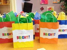 Gift bags for t-shirts during Teacher Appreciation Week