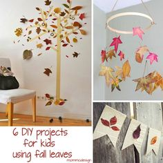 6 DIY projects for kids using fall leaves