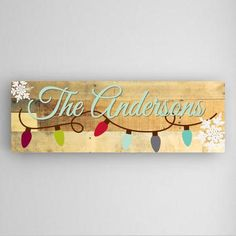 Personalized Snowflakes Canvas Sign - Canvas Prints