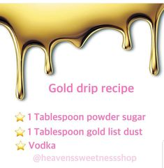 If you watched the video we posted last night with the gold drip wonder how to m… - Cake Decorating Simple Ideen Drip Cakes, Bolo Drip Cake, Cake Decorating Techniques, Cake Decorating Tutorials, Cookie Decorating, Decorating Ideas, Decorating Cakes, Decorating Websites, Drip Cake Recipes