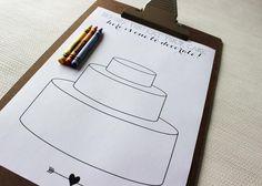 cake decorating activity at wedding for children