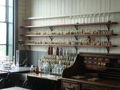 So many wonderful little bottles! (Thomas Edison's laboratory in West Orange, NJ.)