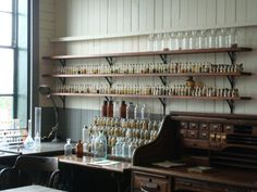 So many wonderful little bottles! (Thomas Edison's laboratory in West Orange, NJ.)