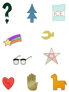 Gravity Falls Symbols by creakybridge