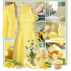 """""""lemon cupcakes"""" by countrycousin on Polyvore"""