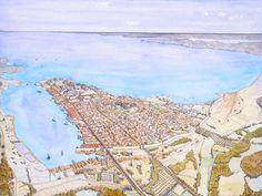 Historical Architecture, Ancient Architecture, Plan Ville, Castle Layout, Voyage Rome, Imaginary Maps, Art Antique, Medieval World, Fantasy City